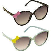 Girls Spotted Design Sunglasses With Bow