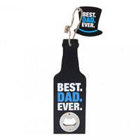 Hanging Best Dad Ever Bottle Opener