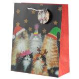 Christmas Festive Cats Gift Bag Large