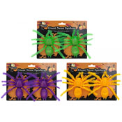 Halloween Giant Neon Spiders 2 Pack
