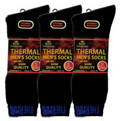 Mens Royal Collection Thermal Socks Black