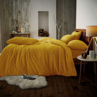 Super Soft Teddy Feel Duvet Set Ochre