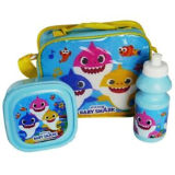 Official 3 Piece Baby Shark Lunch Bag Set