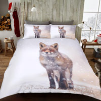Winter Fox Christmas Duvet Set