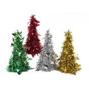 Large Cone Shaped Tinsel Tree