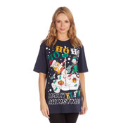 Christmas T-Shirt Navy HoHoHo