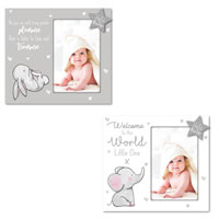Hugs & Kisses Baby Wooden Photo Frame