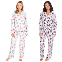 Ladies Long Pyjama Set Owl/Panda