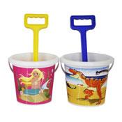 Mermaid & Dinosaur Bucket With Spade