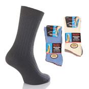 Mens Non Elastic Socks 100% Cotton