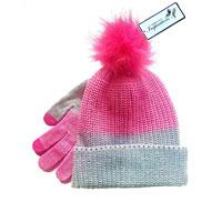 Ladies Knitted Hat & Glove Set