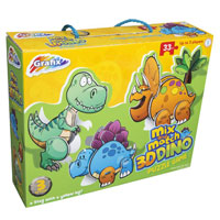 3D Mix And Match Dino Puzzle