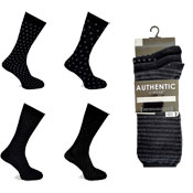 Mens Authentic Computer Socks Black Designs