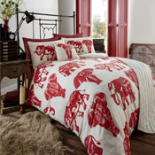 Bed In a Bag Set Tribal Elephant Red