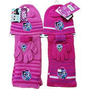 Official LOL Surprise Pink 3 Piece Knitted Hat Glove & Scarf Set