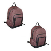 Official JCB Front Zip Twill Backpack Brown