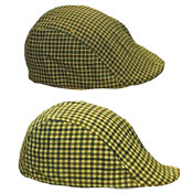Mens Lightweight Flat Cap Large Check Pattern