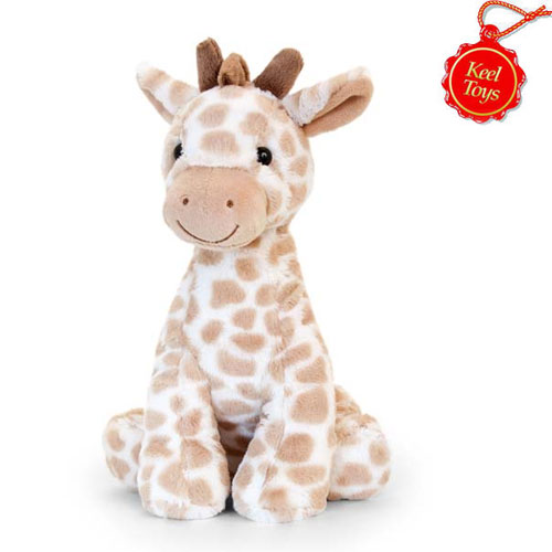 26cm Snuggle Giraffe Natural Soft Toy