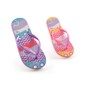 Kids Stripe Heart Flip Flops