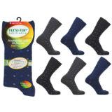 Mens Flexi-Top Non Elastic Socks Diamond