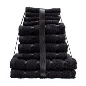 10 Piece Towel Bale Black Egyptian Cotton