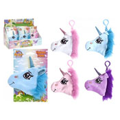 Plush Unicorn Head Purse With Clip