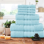 Luxurious 8 Piece Towel Bale Set Duckegg