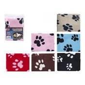 Soft Fleece Paw Printed Pet Blanket Assorted