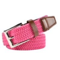 Ladies Pink Stretchy Belt