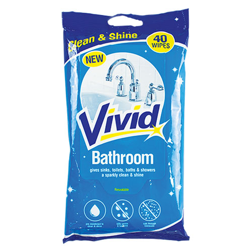 Bathroom Cleaning Wipes 40 Pack