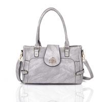 Violet Tote Bag Grey