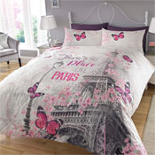 Paris Romance Reversible Duvet Set