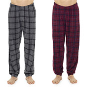 Mens Printed Check Fleece Lounge Pants