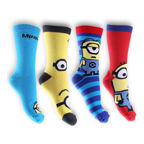 Boys Despicable Me Minions Design Character Socks