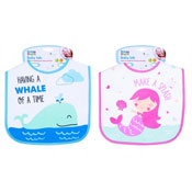 Baby Mermaid/Whale Design Feeding Bib