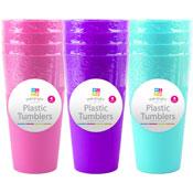 Tall Plastic Tumblers 4 Pack
