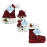 Christmas Tinsel Table Decorations