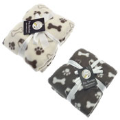 Dog Bone And Paw Print Design Pet Blankets