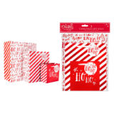 Red Foil Gift Bags Pack Of 3