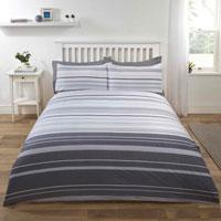 Stratford Stripe Grey Duvet Set