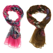 Fashion Summer Scarf Azalea Watercolour Print
