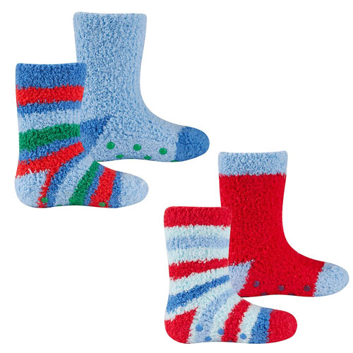 Baby Boys Cosy Socks With Grip