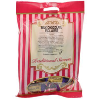 Milk Chocolate Eclairs Traditional Sweets 150g Bag