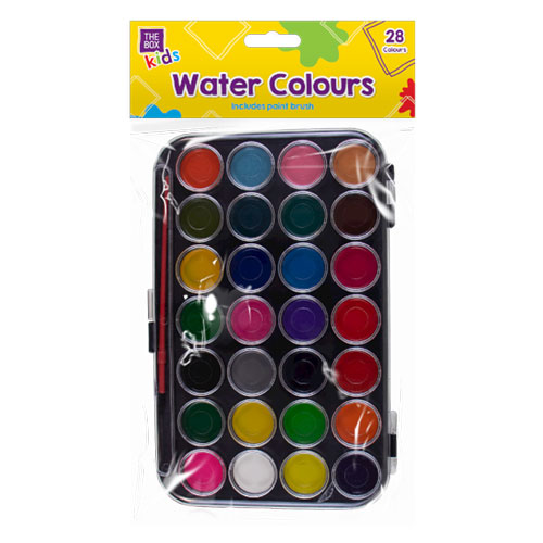 Water Colour Pallet And Brush Set