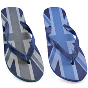 Mens Navy Union Jack Flip Flops