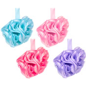 Ribbon Trim Exfoliating Body Puffs