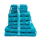 10 Piece Towel Bale Teal Egyptian Cotton