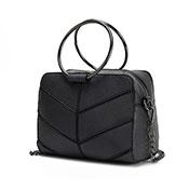 Ladies Ring Detail Bag Dark Grey