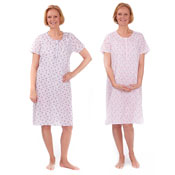 Ladies Poly Cotton Short Sleeve Nightie Daisy Print