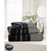 Egyptian Cotton Hand Towel Black Stripe